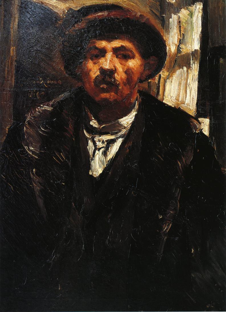 Self Portrait in a Fur Coat and a Fur Cap | Lovis Corinth | oil painting