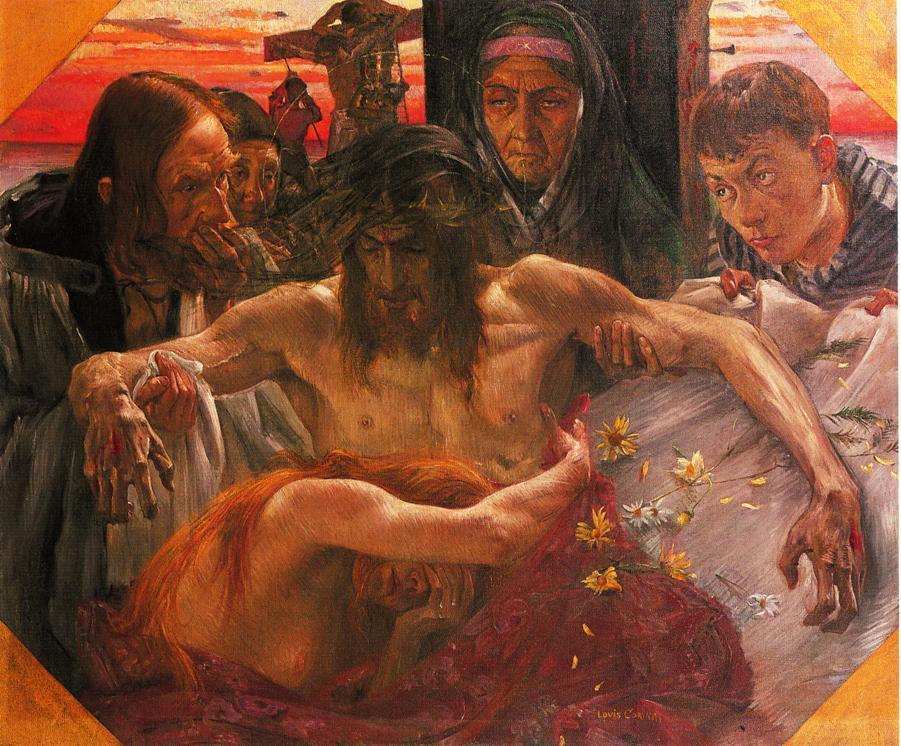 The Deposition   Lovis Corinth   oil painting