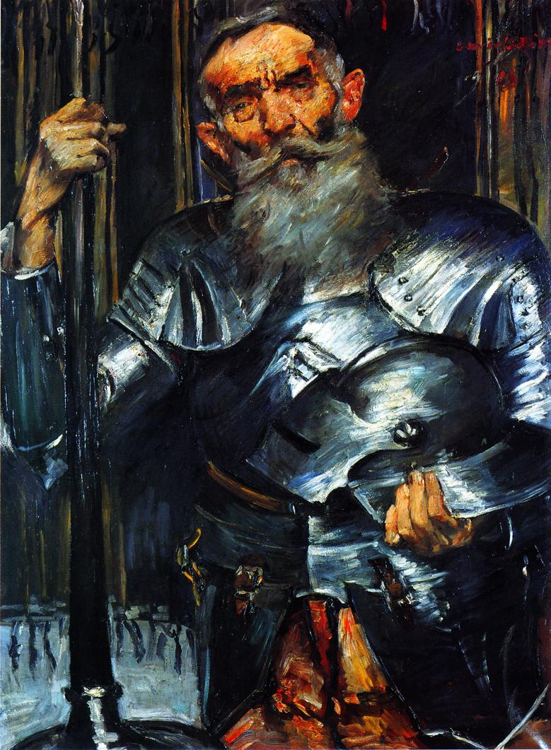 Old Man in Armour | Lovis Corinth | oil painting