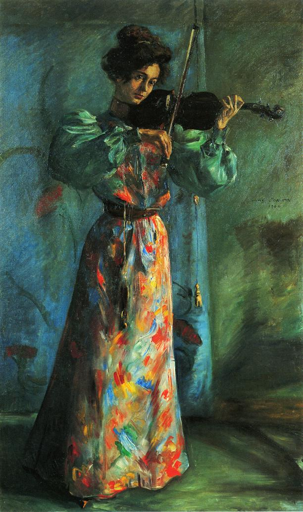 The Violinist | Lovis Corinth | oil painting