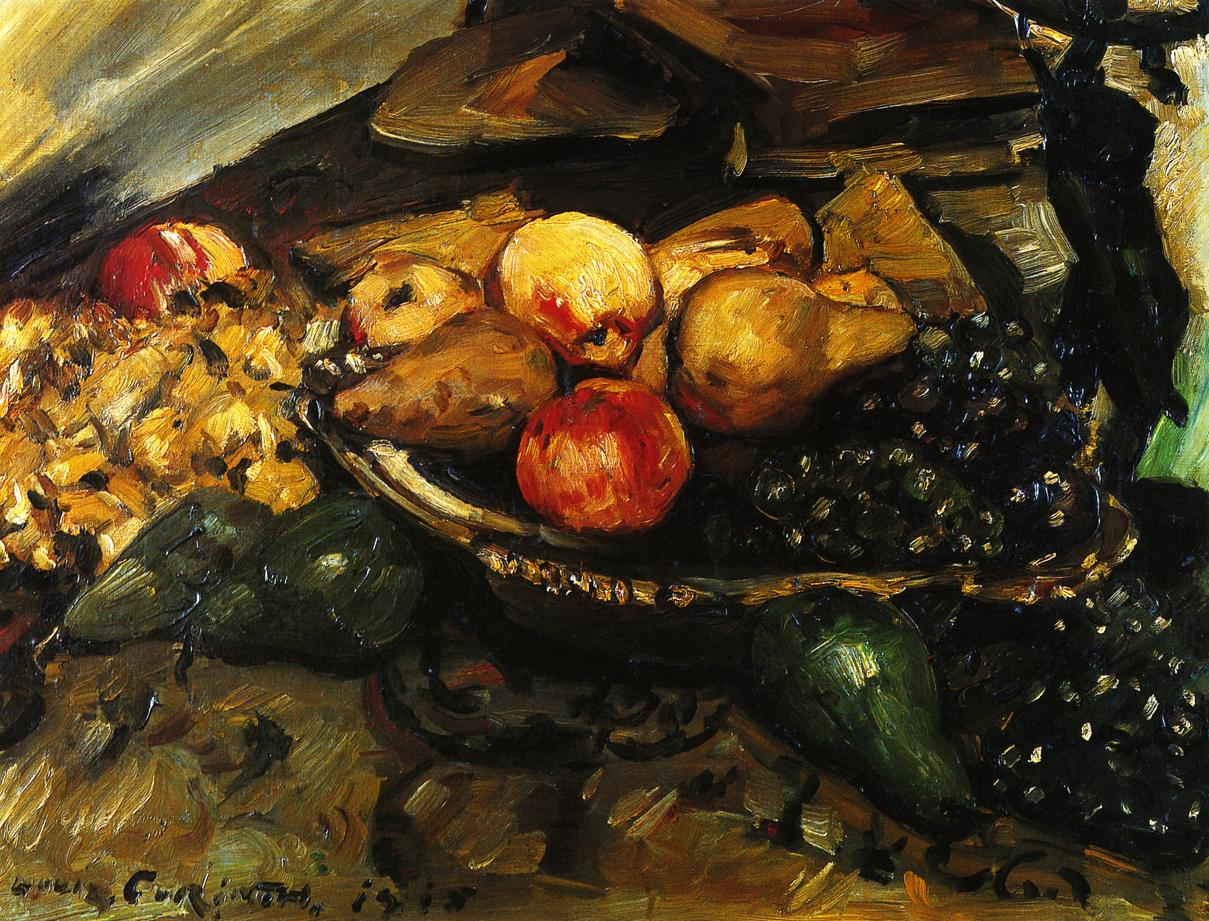 Still Life with Fruit and Wine Glass | Lovis Corinth | oil painting