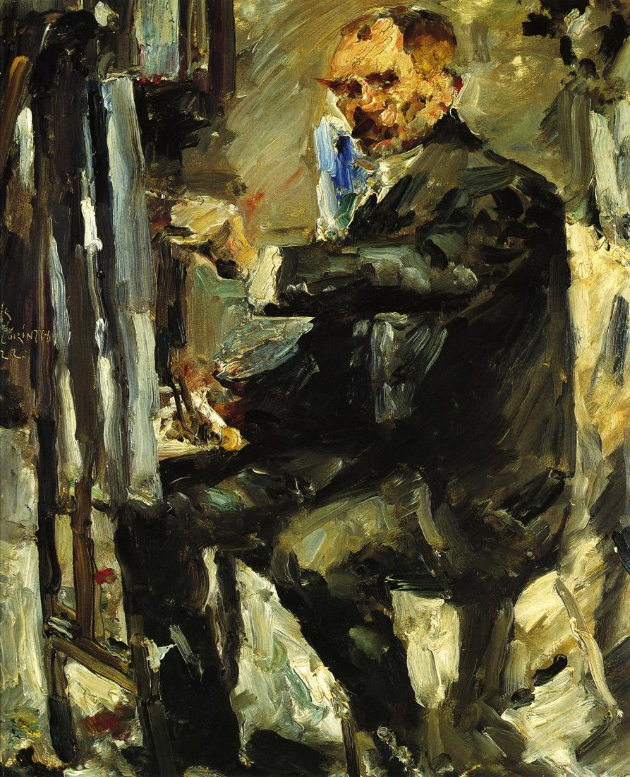Self Portrait at the Easel | Lovis Corinth | oil painting