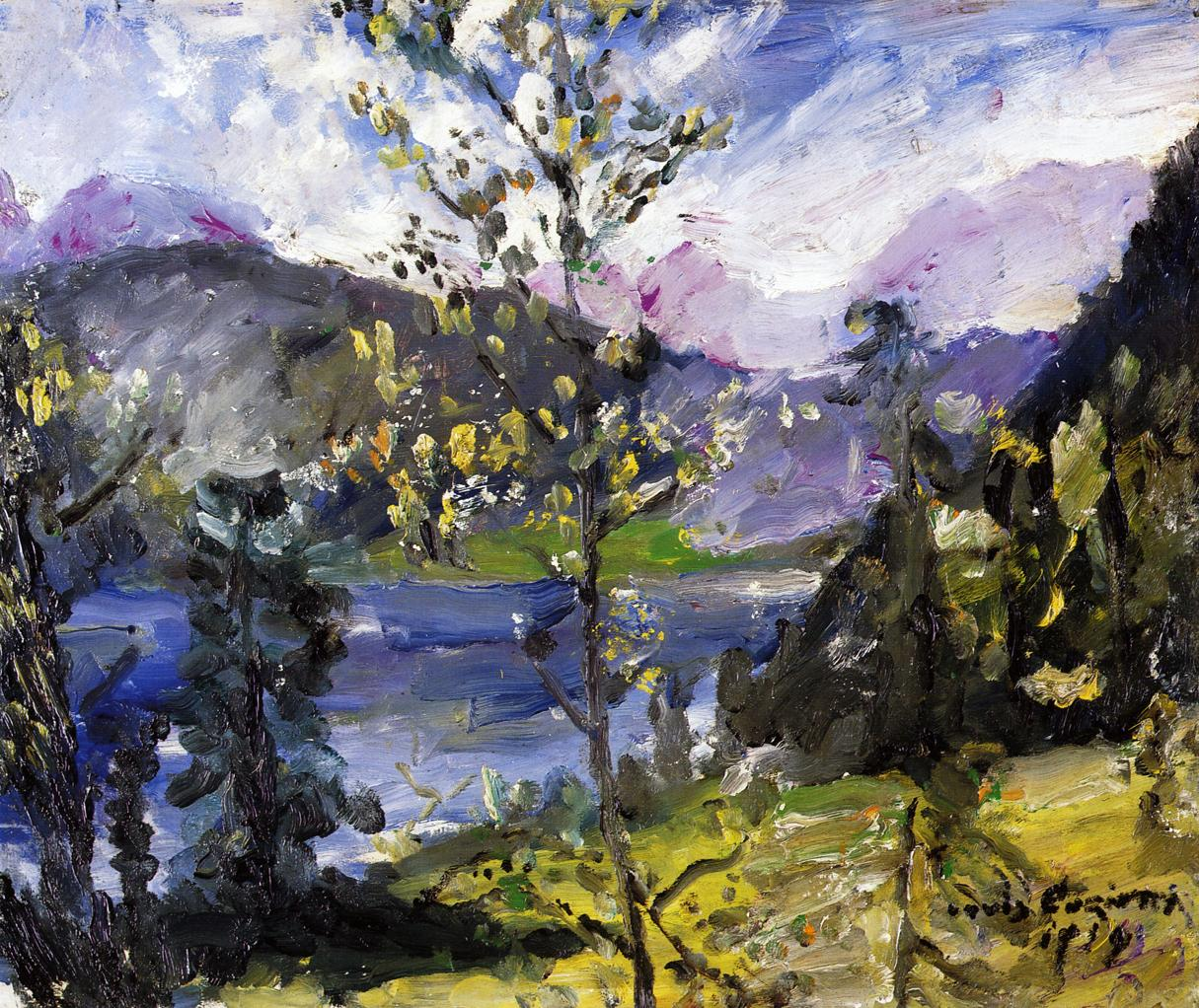 October Show at the Walchensee | Lovis Corinth | oil painting