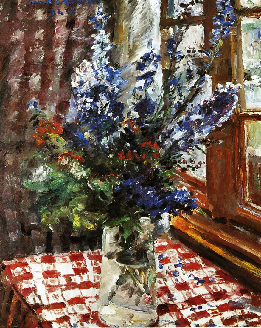 Larkspur | Lovis Corinth | oil painting