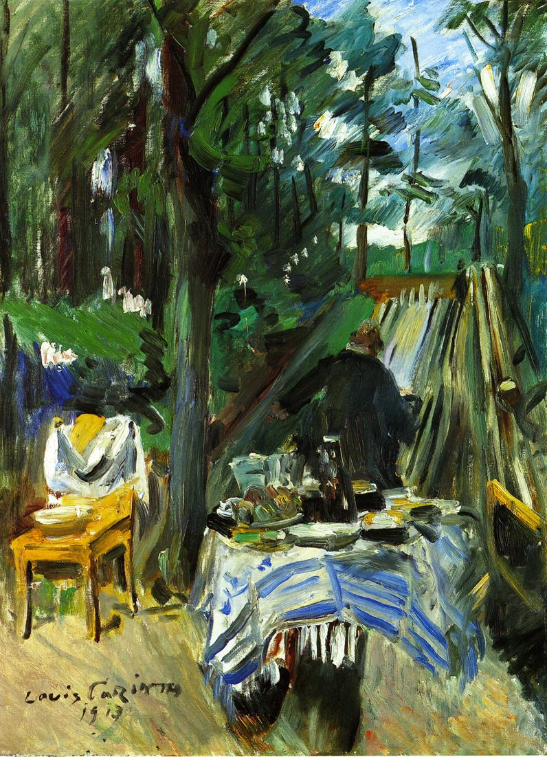 Bowling Alley | Lovis Corinth | oil painting