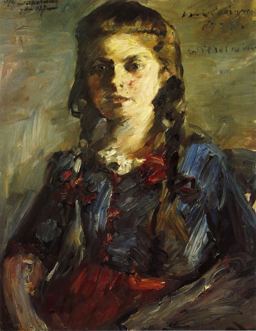 Portrait of Wilhelmine with Her Hair in Braids | Lovis Corinth | oil painting