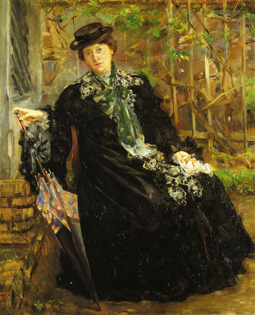 In a Black Coat | Lovis Corinth | oil painting