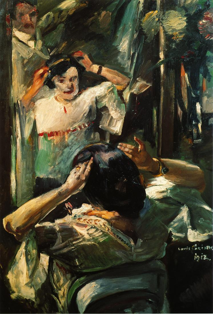At the Mirror | Lovis Corinth | oil painting