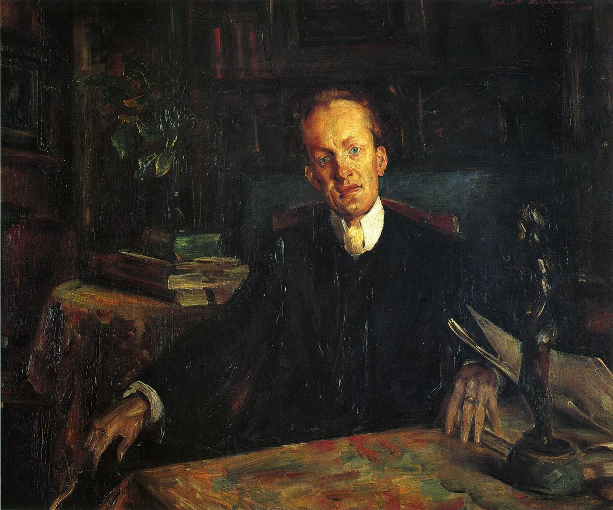 Portrait of Gerhart Hauptmann | Lovis Corinth | oil painting