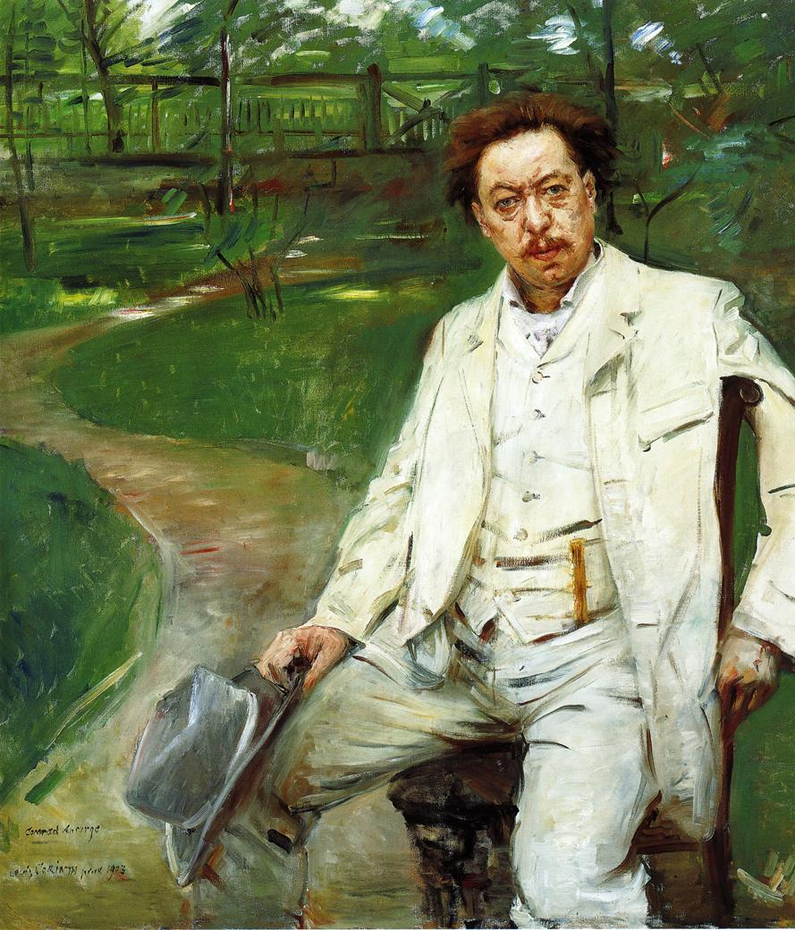 Portrait of the Pianist Conrad Ansorge | Lovis Corinth | oil painting