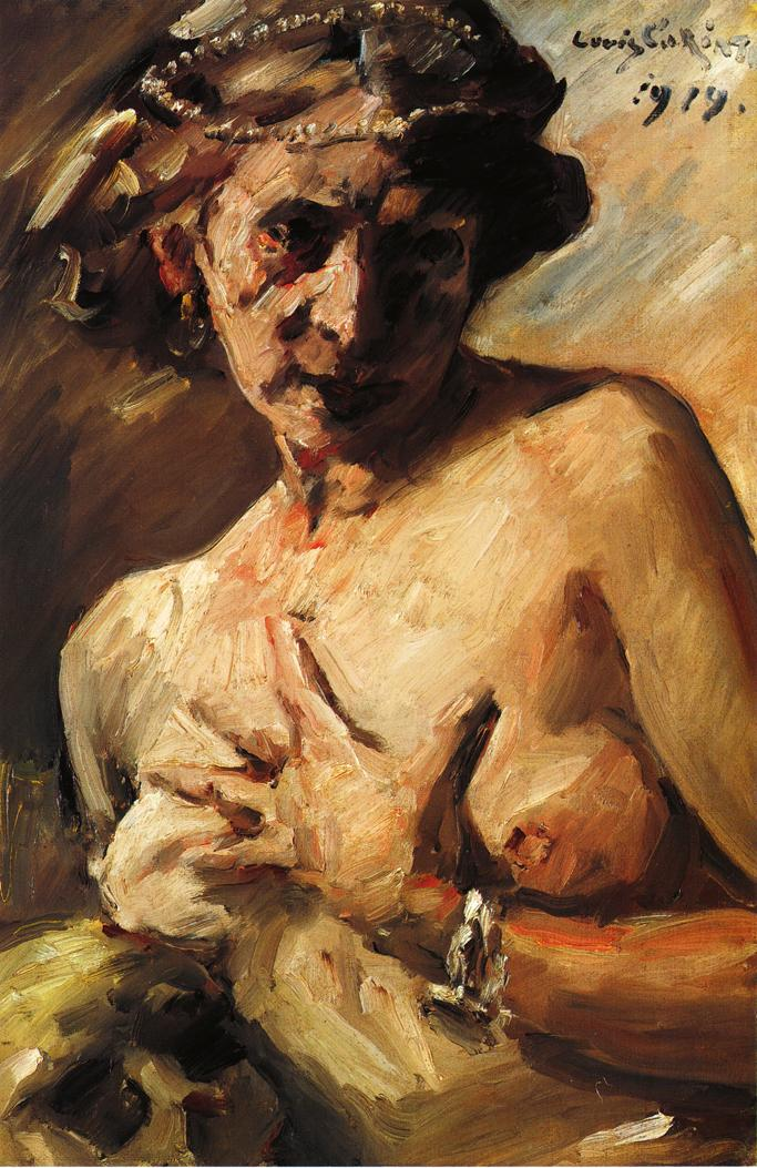 The Magdalen with Pearls in Her Hair   Lovis Corinth   oil painting