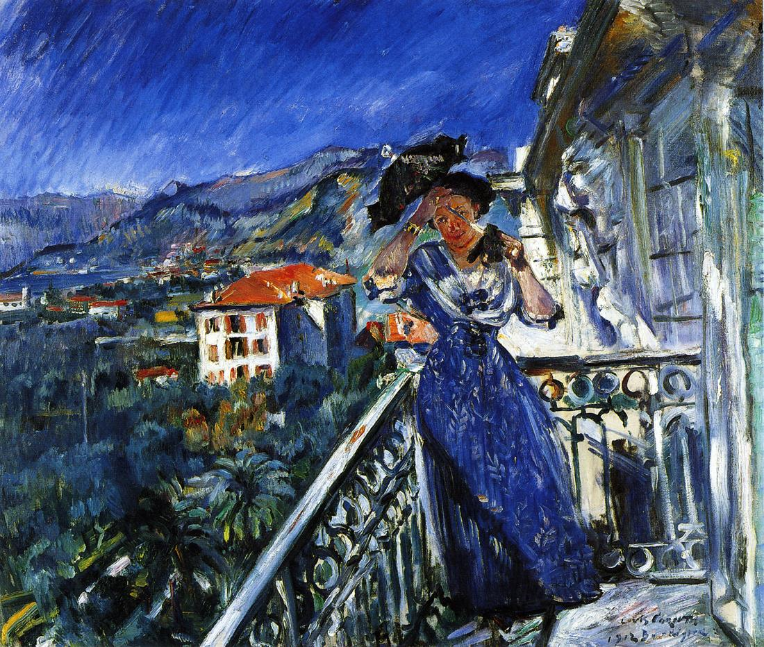 On the Balcony in Bordighera | Lovis Corinth | oil painting