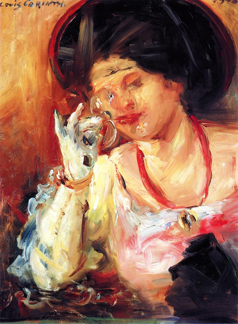 Woman with a Glass of Wine | Lovis Corinth | oil painting