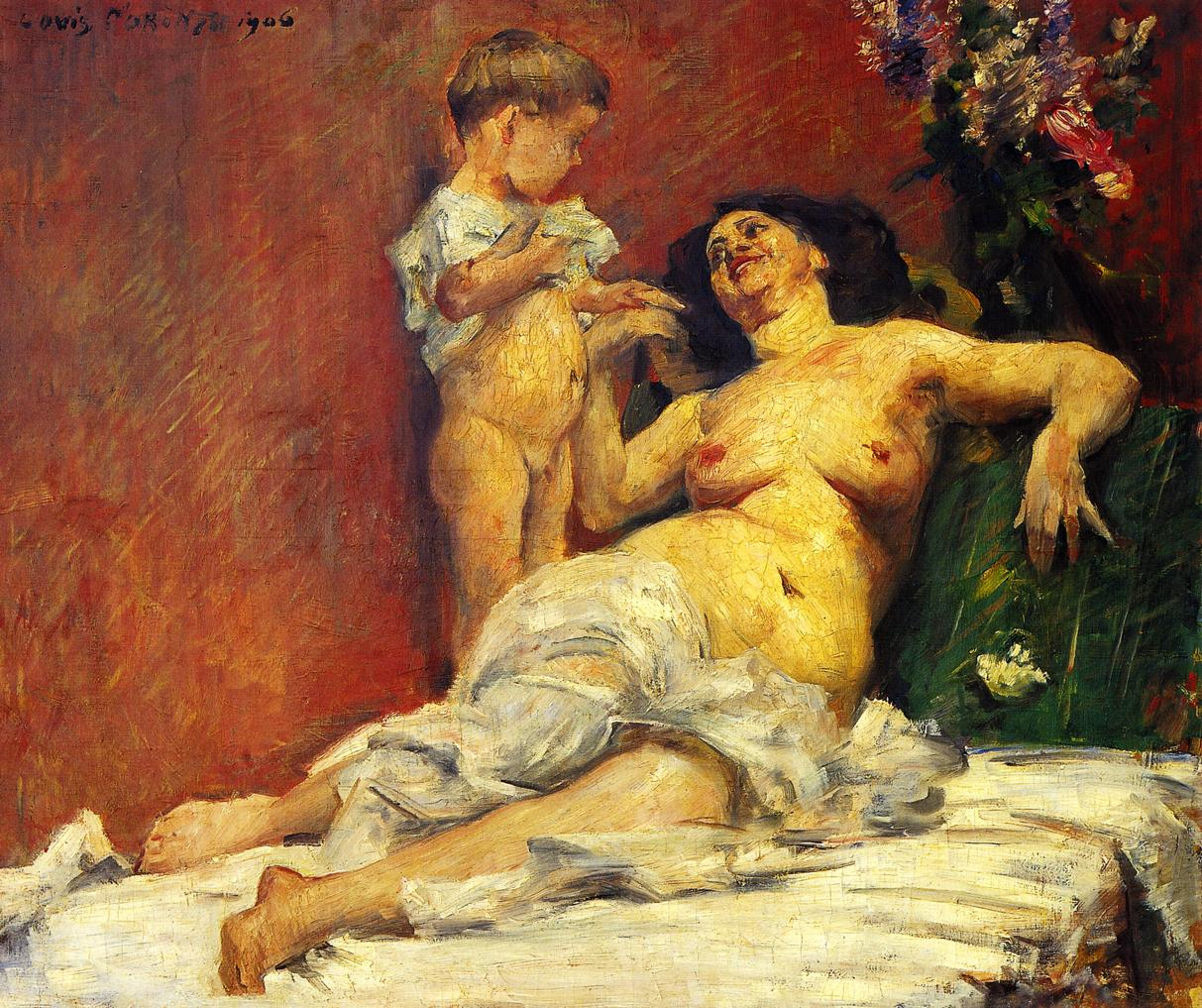 Mother and Child | Lovis Corinth | oil painting