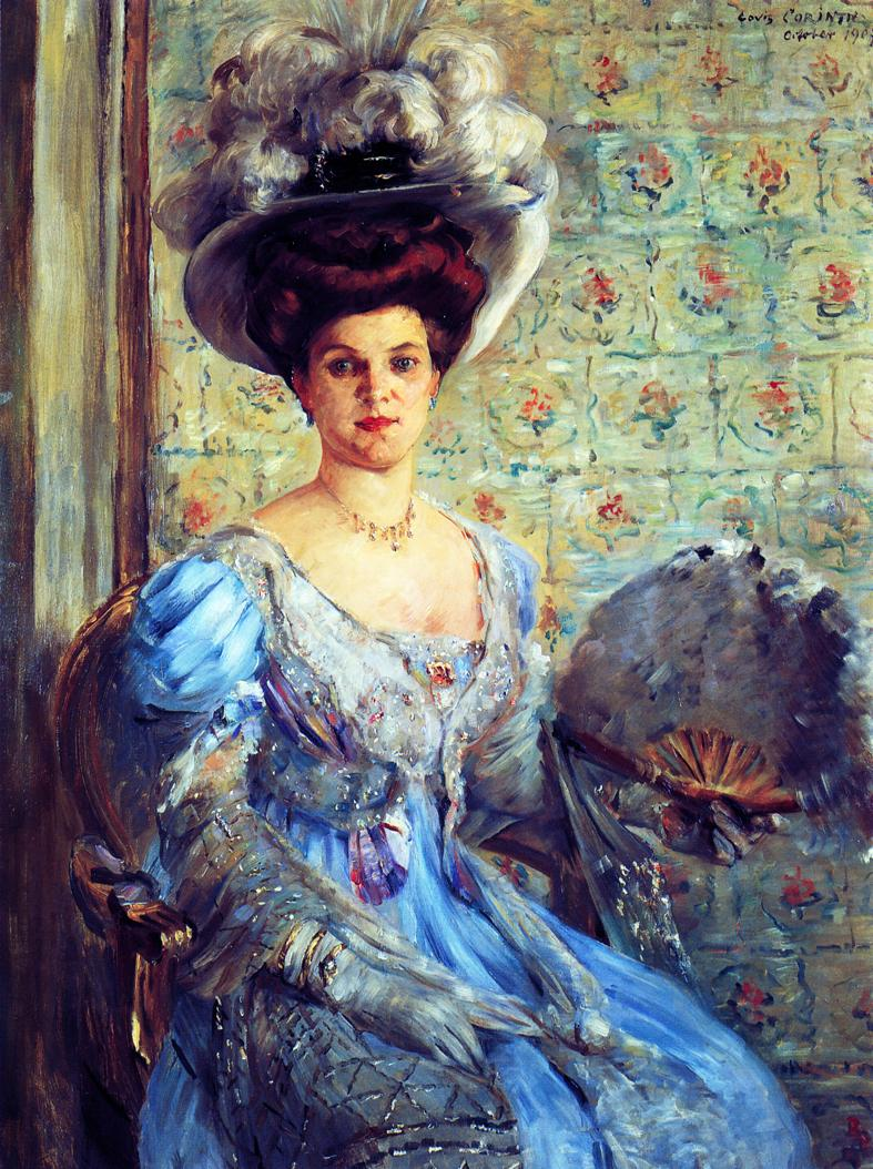 Portrait of Eleonore von Wilke Countess Finkh | Lovis Corinth | oil painting