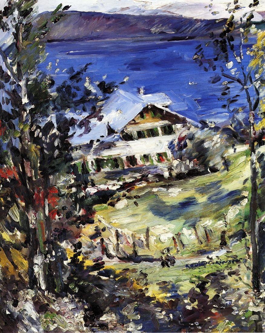 The Walchensee Country House with Washing on the Line | Lovis Corinth | oil painting