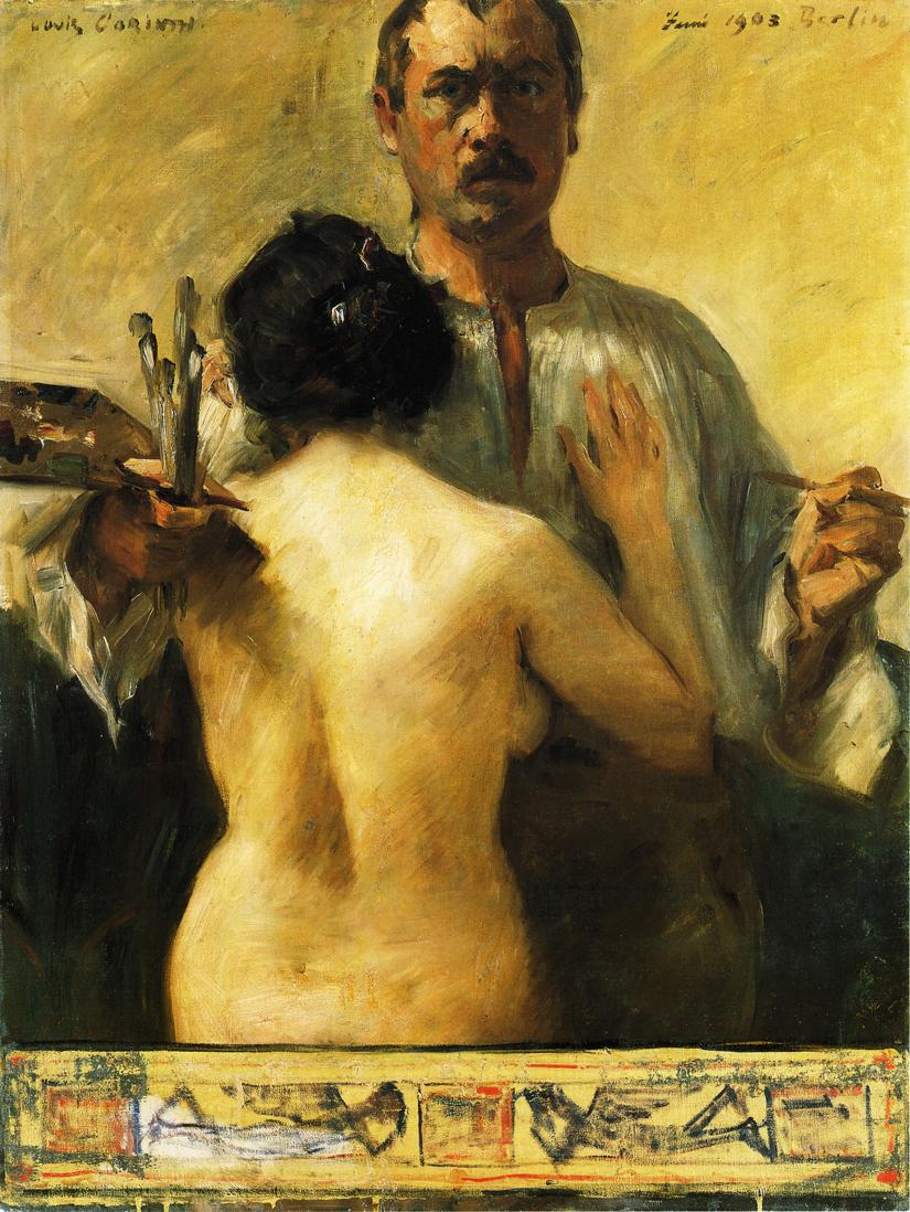 Self Portrait with Model | Lovis Corinth | oil painting