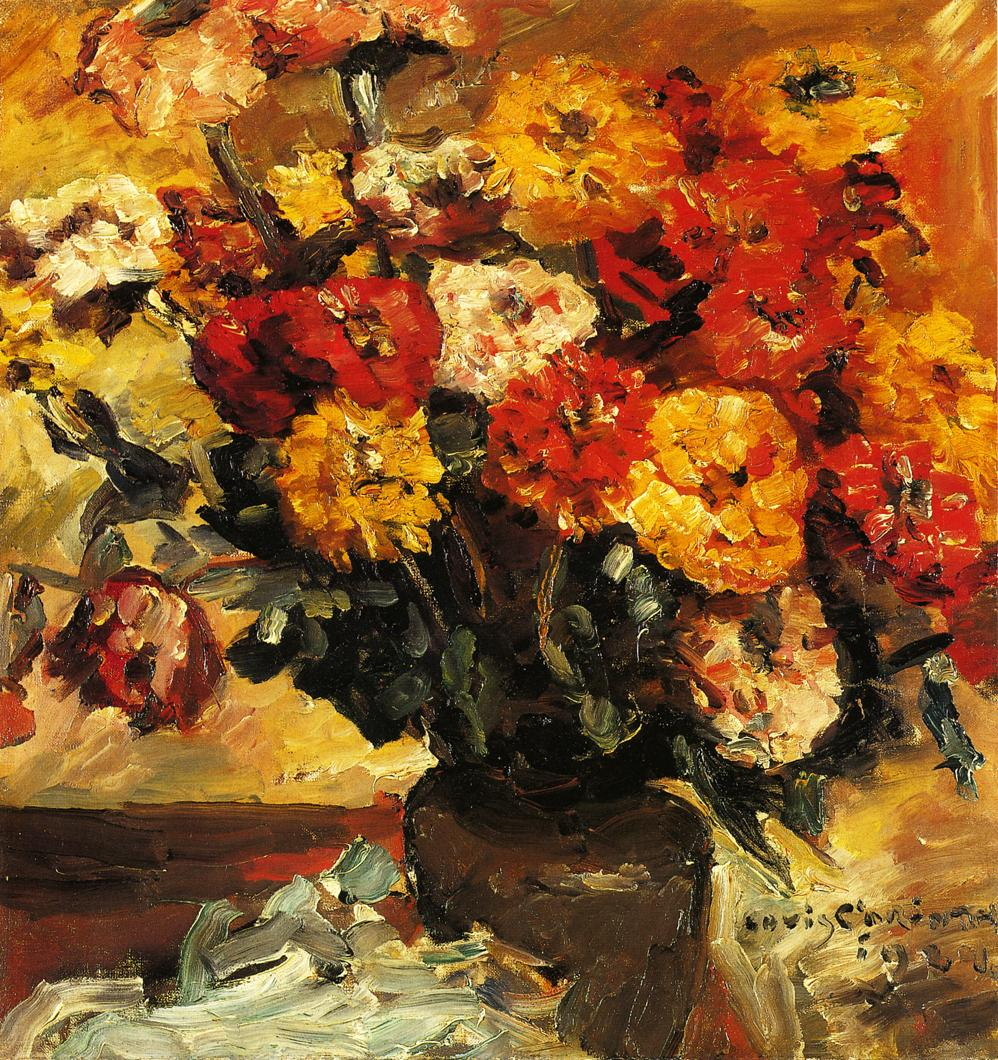 Zinnias | Lovis Corinth | oil painting