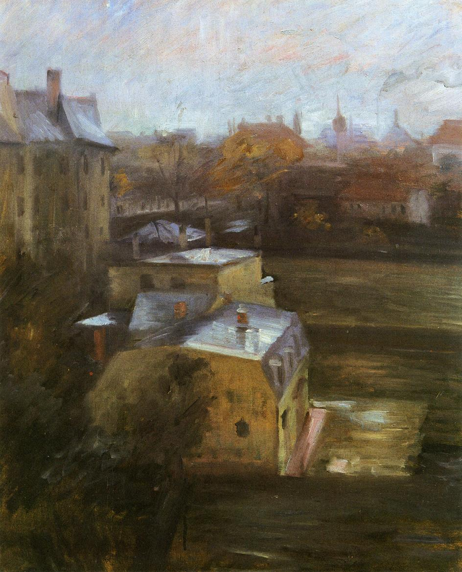 View from the Studio Schwabing | Lovis Corinth | oil painting