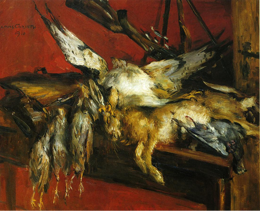 Still Life with Hare and Partridges | Lovis Corinth | oil painting