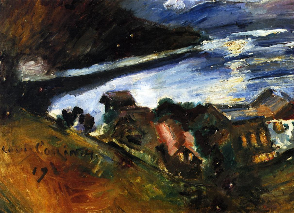 The Walchensee in the Moonlight | Lovis Corinth | oil painting