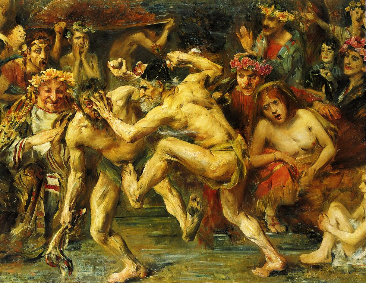 Odysseus Fighting with the Beggar | Lovis Corinth | oil painting