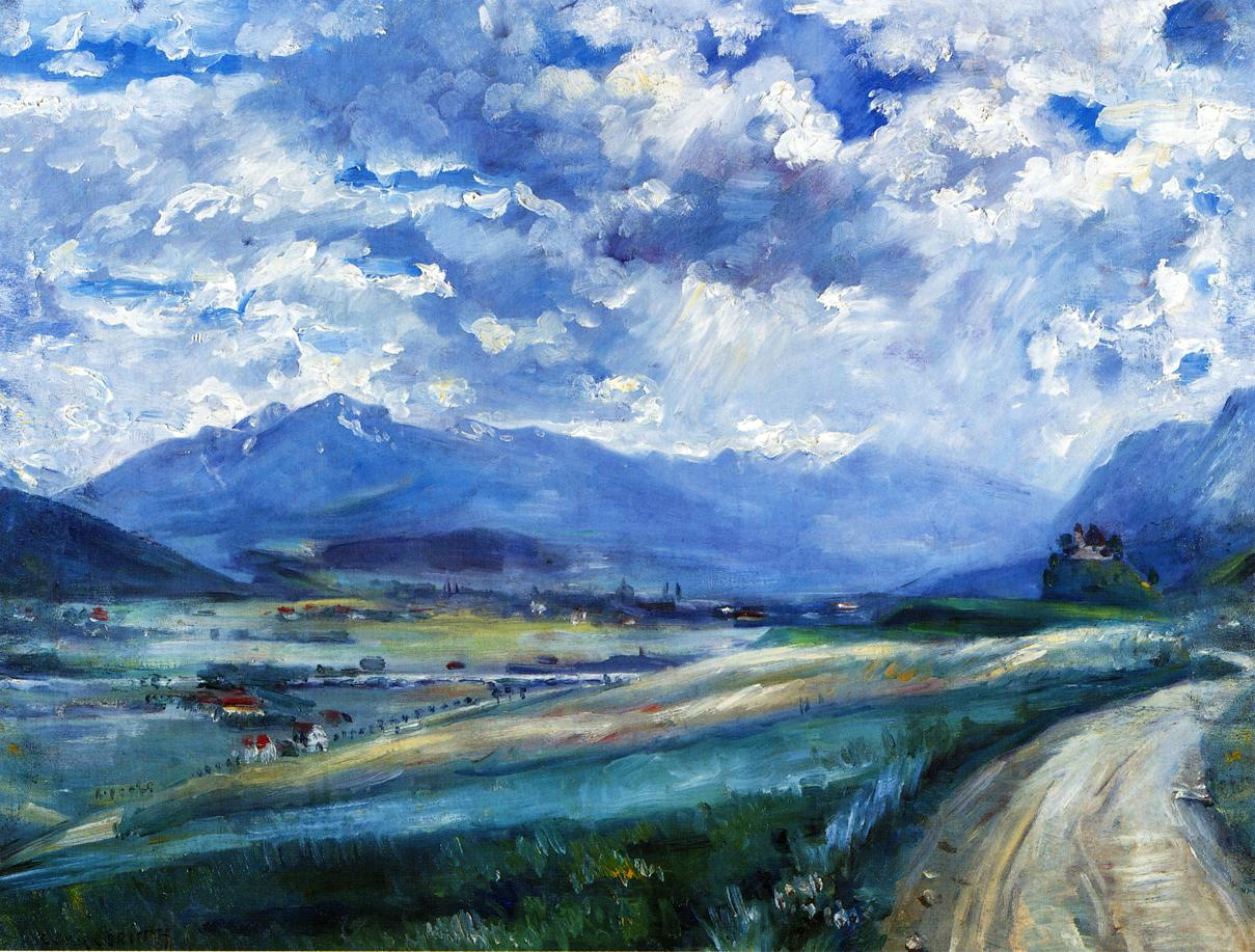Inn Valley Landscape | Lovis Corinth | oil painting