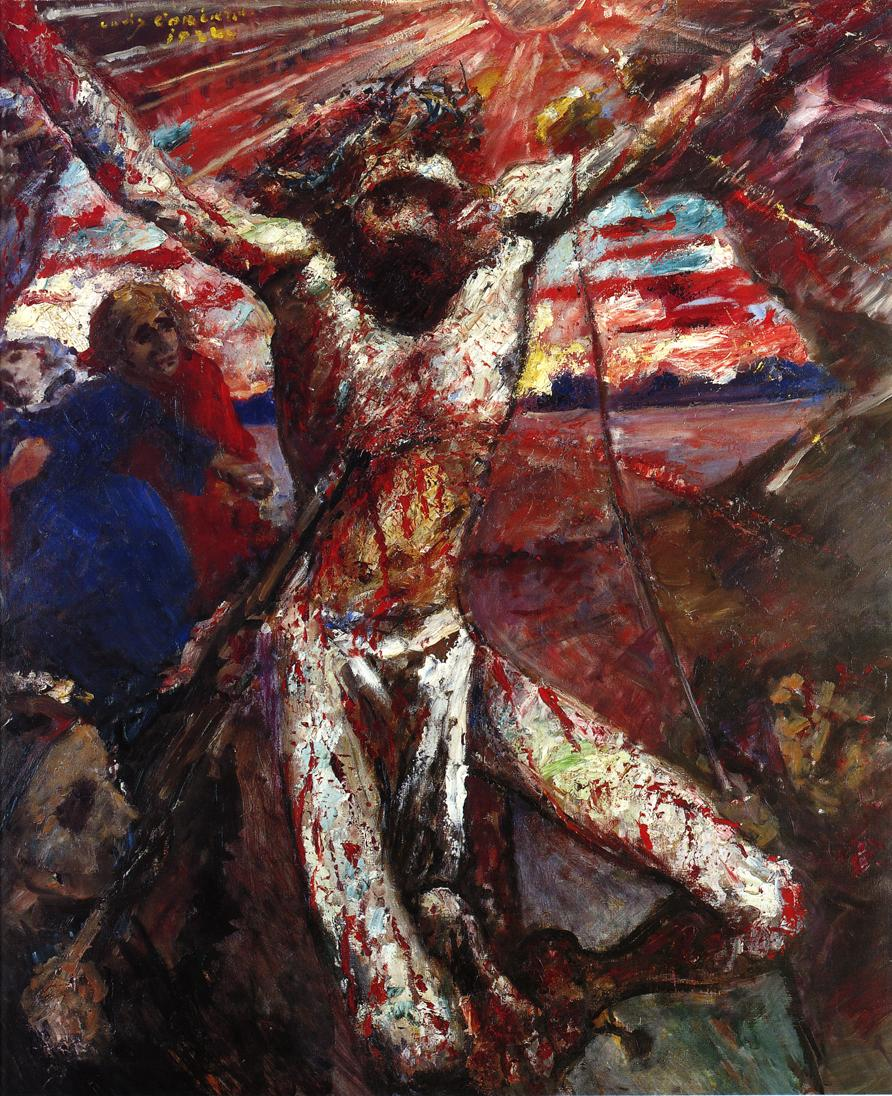Red Christ | Lovis Corinth | oil painting