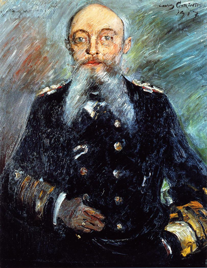 Portrait of Admiral Alfred von Tirpitz | Lovis Corinth | oil painting