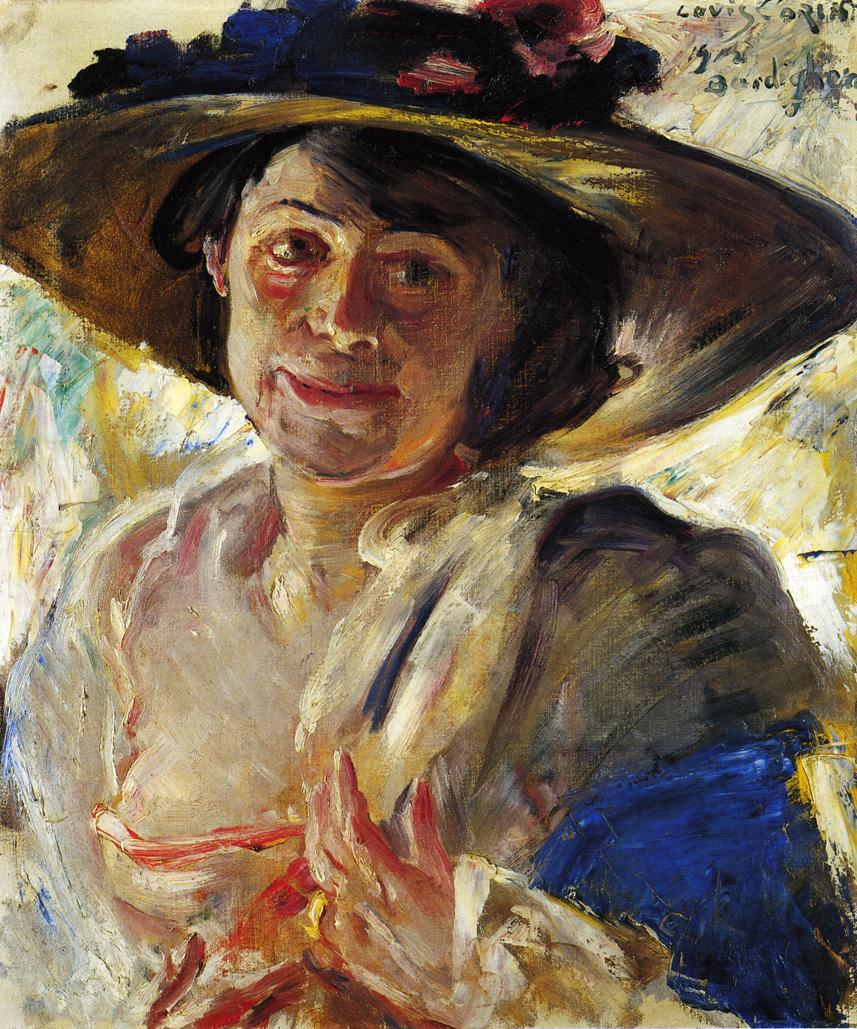 Woman in a Hat with Roses | Lovis Corinth | oil painting