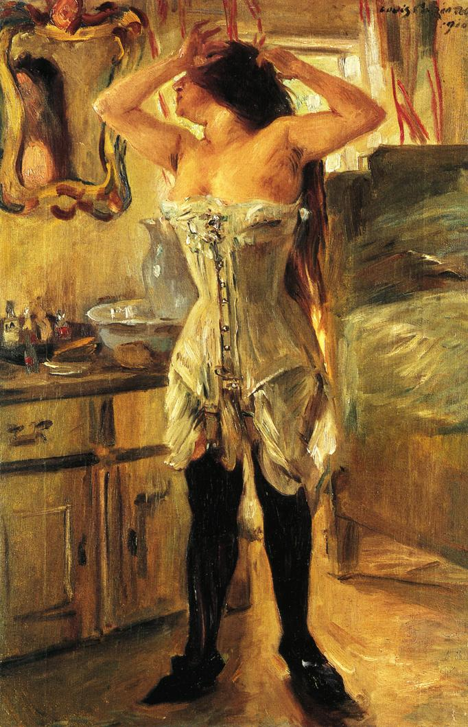 In a Corset | Lovis Corinth | oil painting