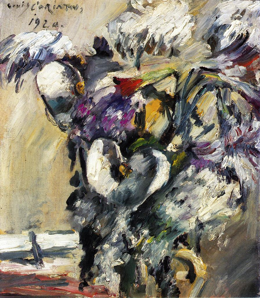 Chrysanthemms and Calla | Lovis Corinth | oil painting