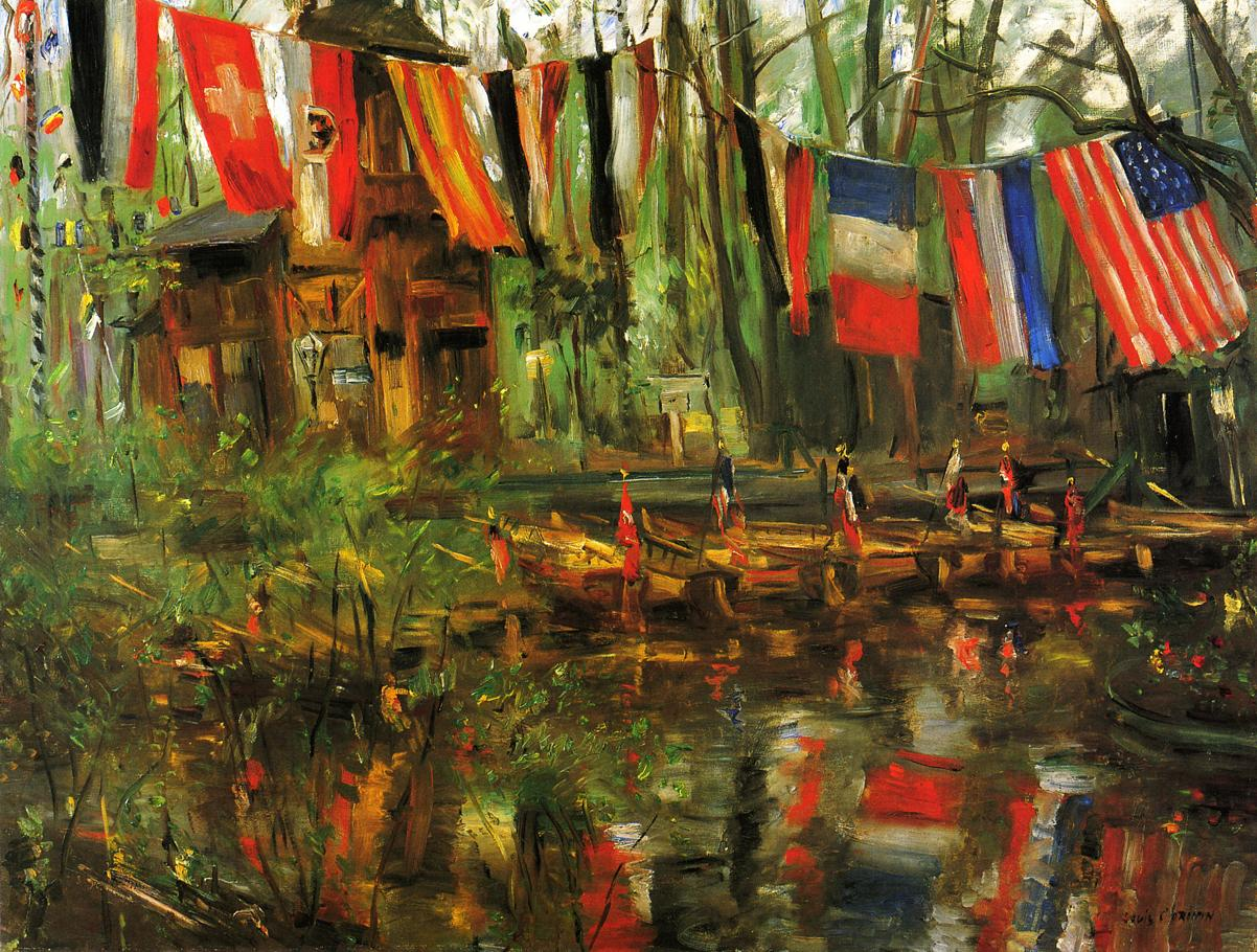The New Pond in the Tiergarten Berlin | Lovis Corinth | oil painting