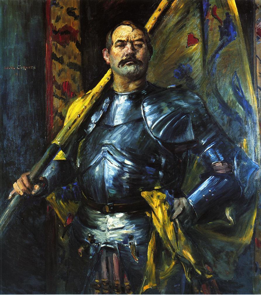 Self Portrait as Standard Bearer | Lovis Corinth | oil painting
