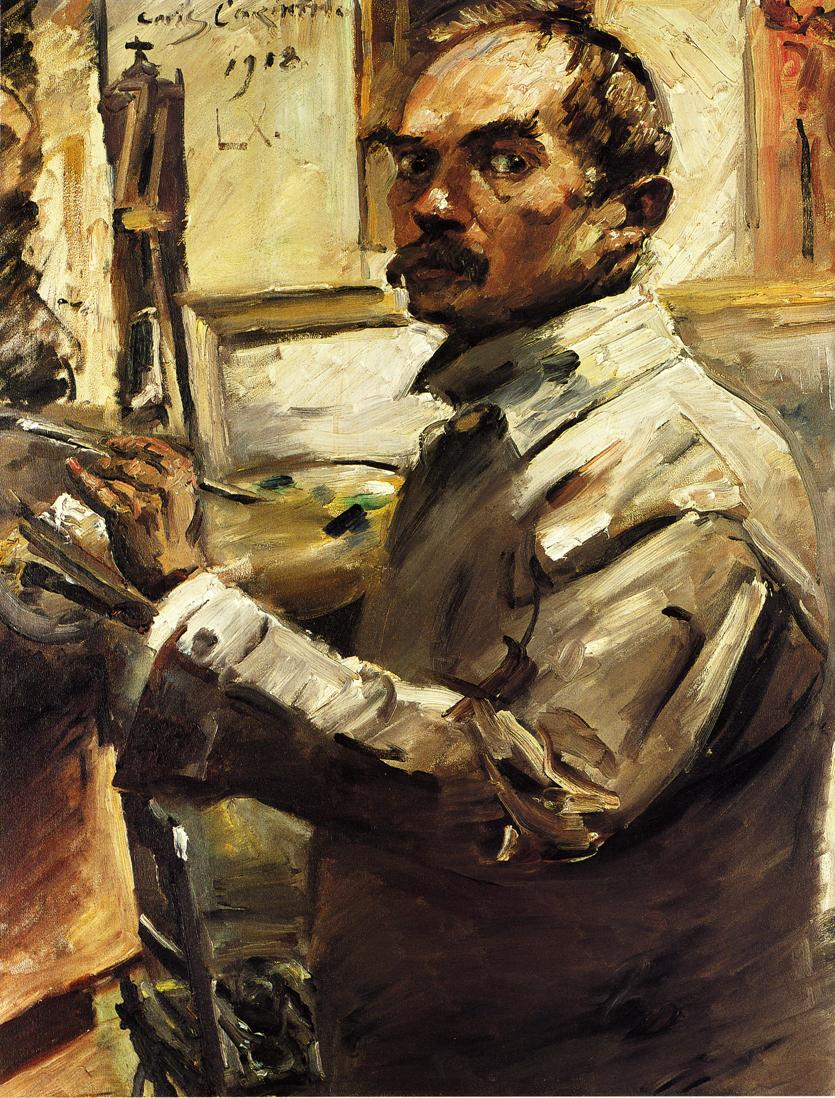 Self Portrait in a White Smock | Lovis Corinth | oil painting