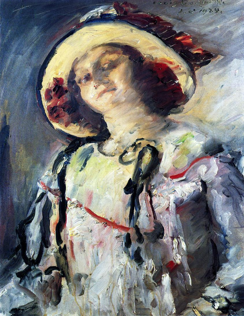 Wilhelmine in a Yellow Hat | Lovis Corinth | oil painting