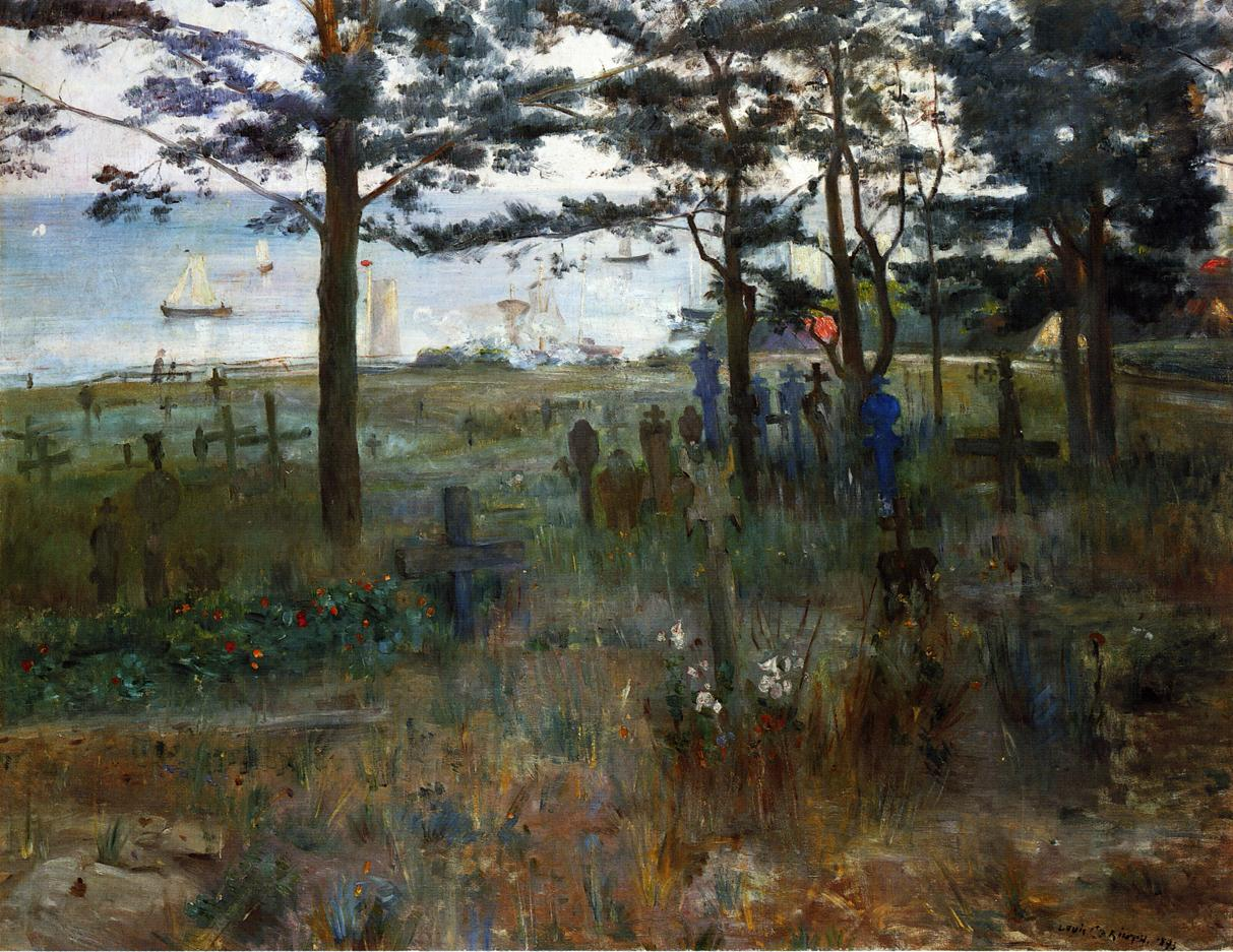 Fishermens Cemetery at Nidden | Lovis Corinth | oil painting