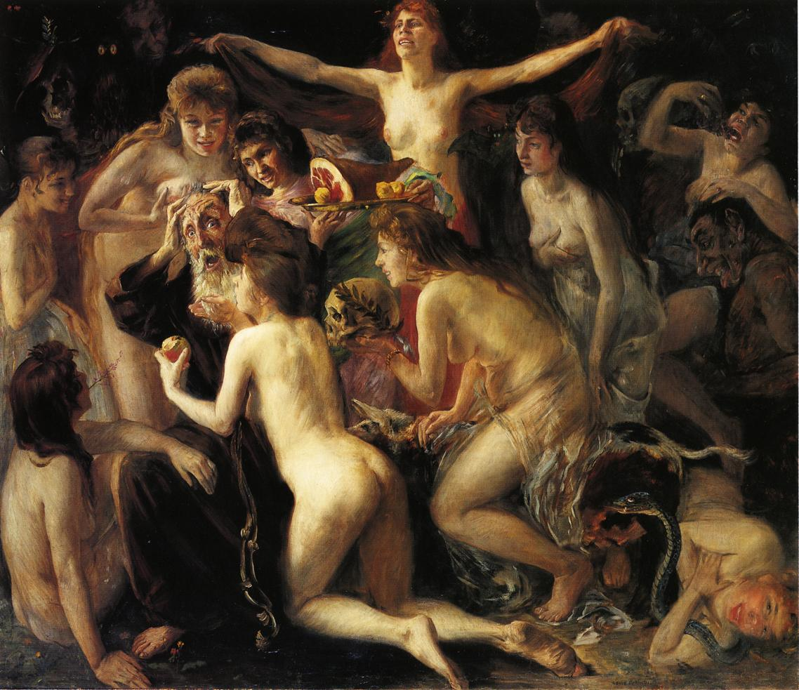 The Temptation of Saint Anthony | Lovis Corinth | oil painting