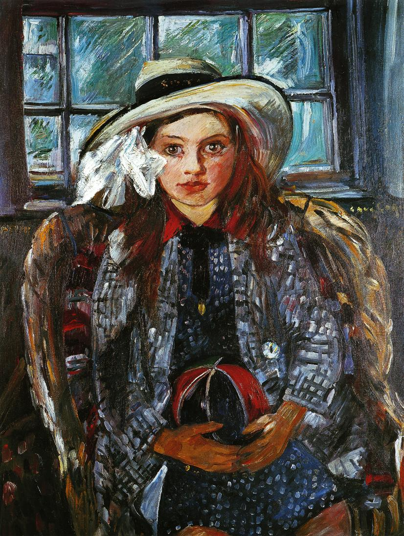 Wilhelmine with a Ball | Lovis Corinth | oil painting