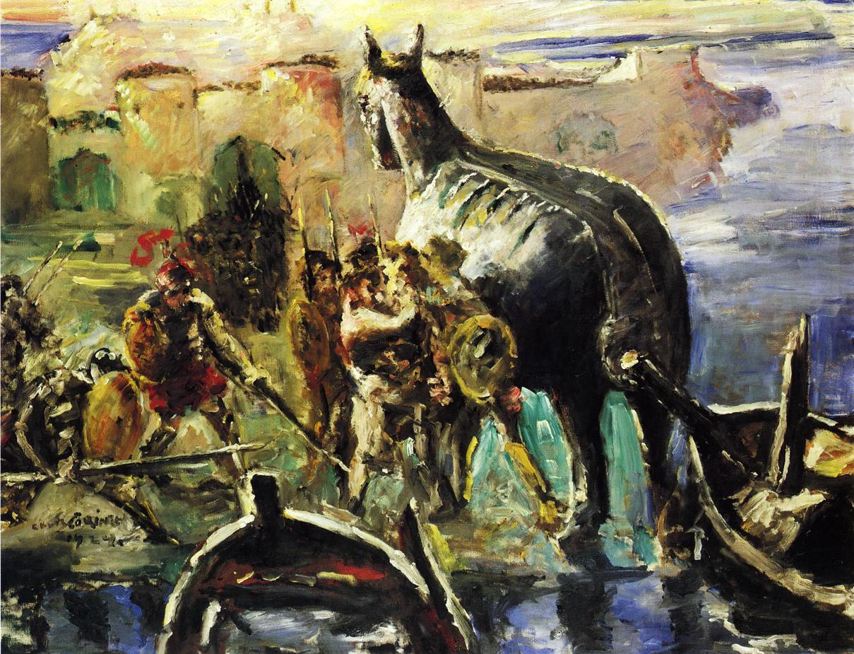 The Trojan Horse | Lovis Corinth | oil painting