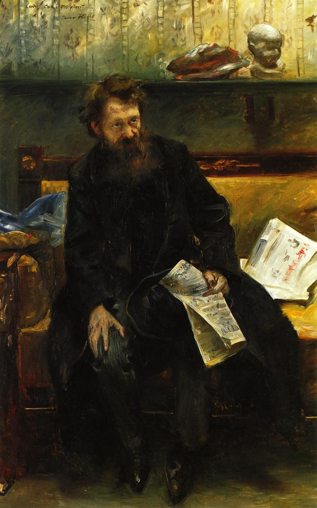 Portrait of the Poet Peter Hille | Lovis Corinth | oil painting