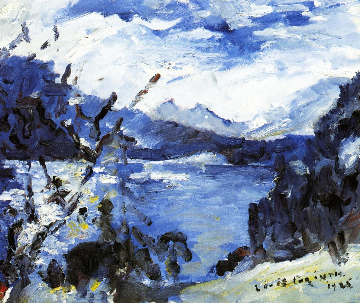 The Walchensee with Mountain Range and Shore | Lovis Corinth | oil painting