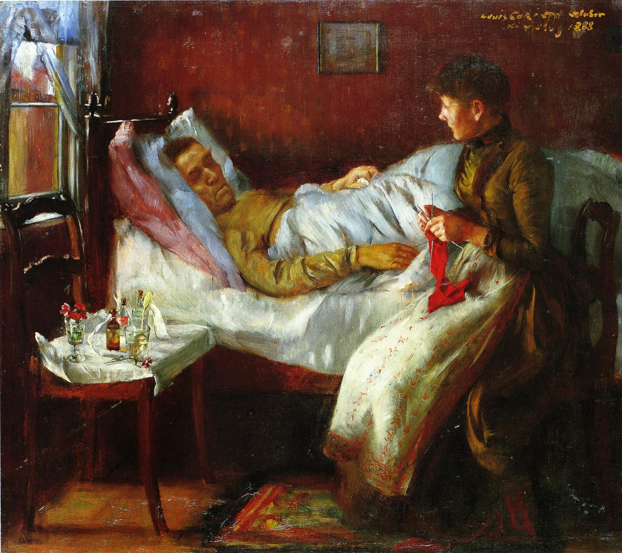 Franz Heinrich Corinth on His Sickbed | Lovis Corinth | oil painting