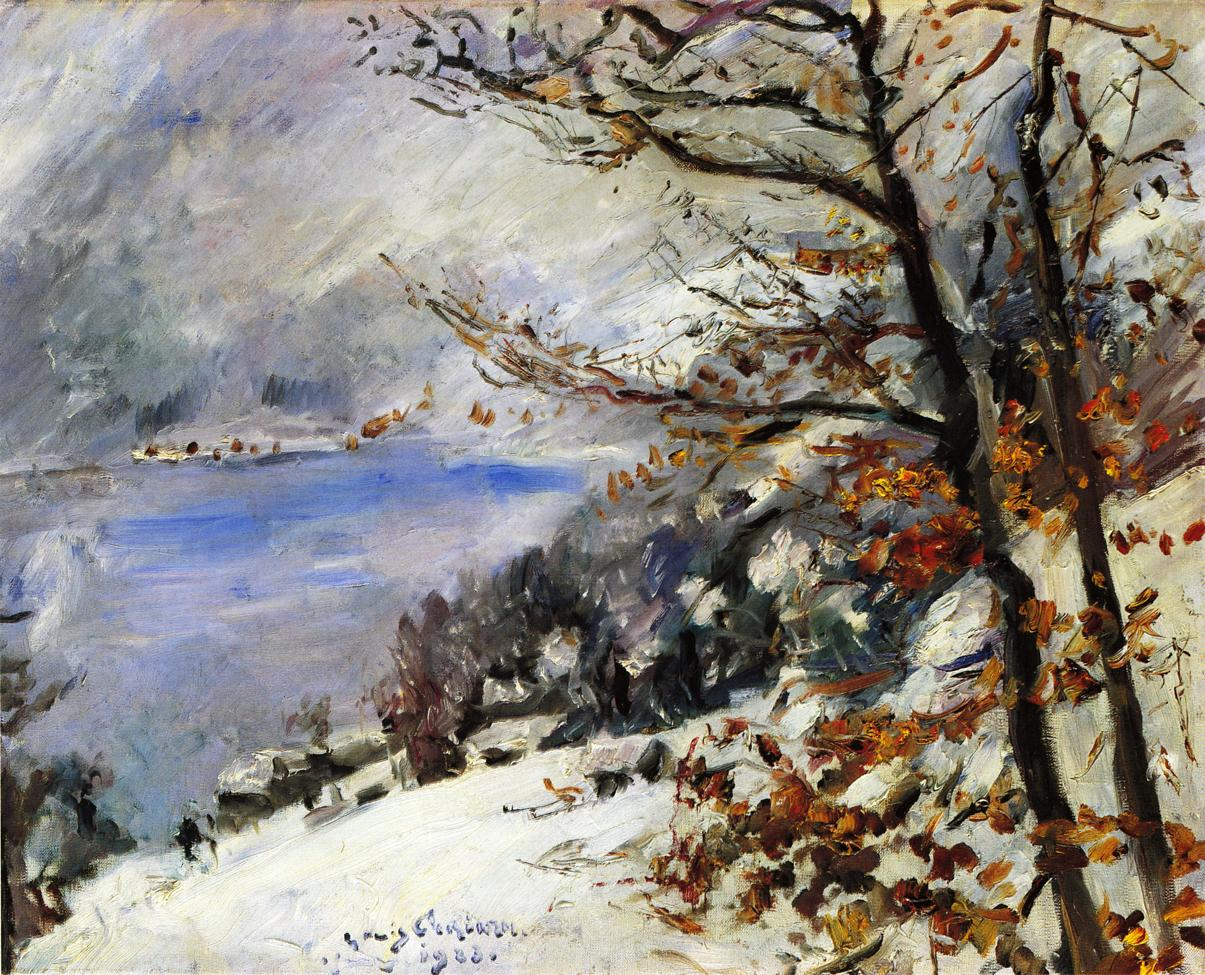 The Walchensee in Winter | Lovis Corinth | oil painting