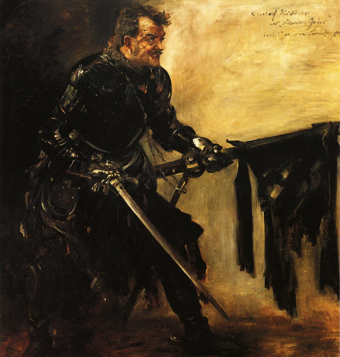 Rudolph Rittner as Florian Geyer First Version | Lovis Corinth | oil painting
