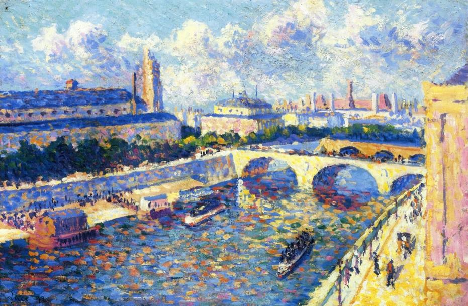 Paris the Seine and the Quai de la Megisserie viewed from the Quai de Horloge 1892 | Maximilien Luce | oil painting