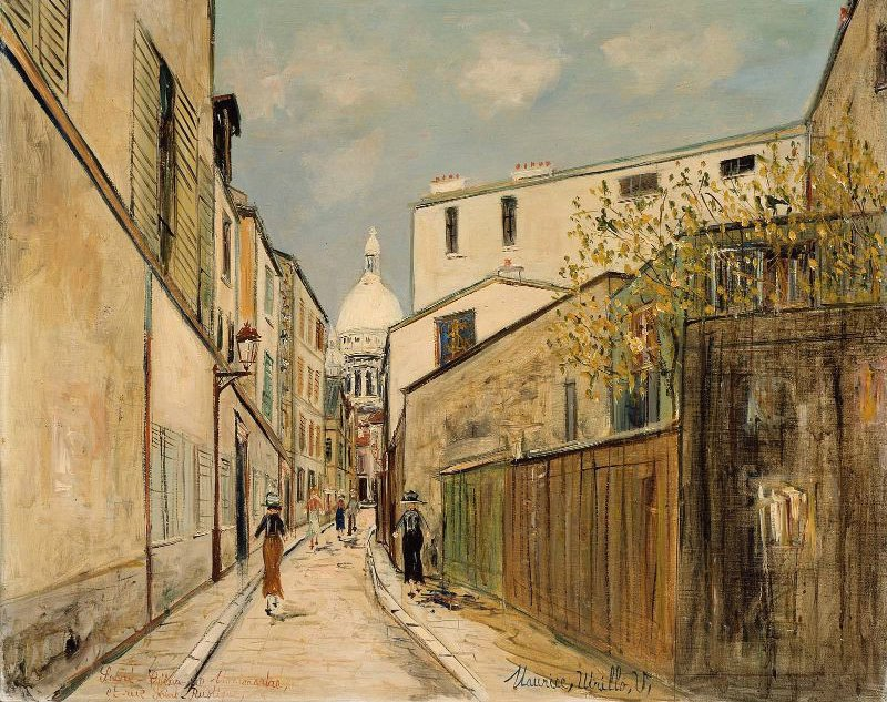 Church of Le Sacre Coeur from rue Saint Rustique | Maurice Utrillo | oil painting