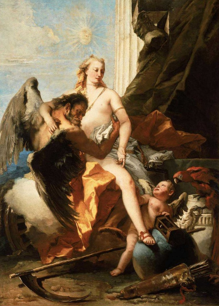 Time Unveiling Truth 1745?50 | Giovanni Battista Tiepolo | oil painting