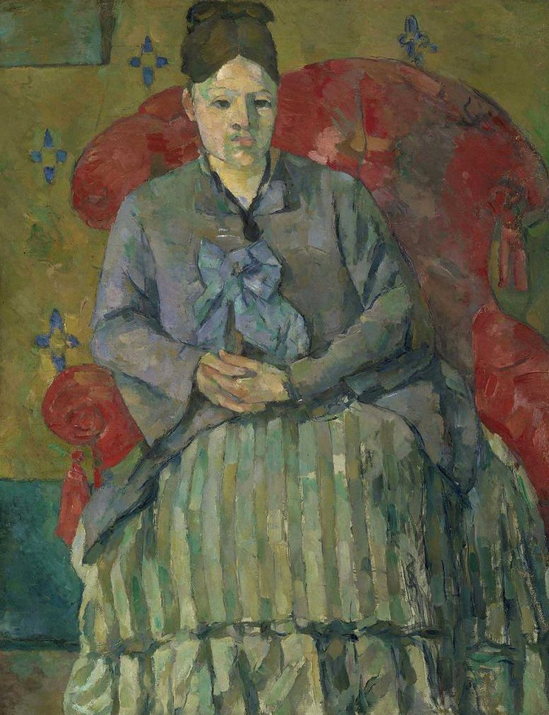 Madame Cezanne in a Red Armchair 1877 | Paul Cezanne | oil painting
