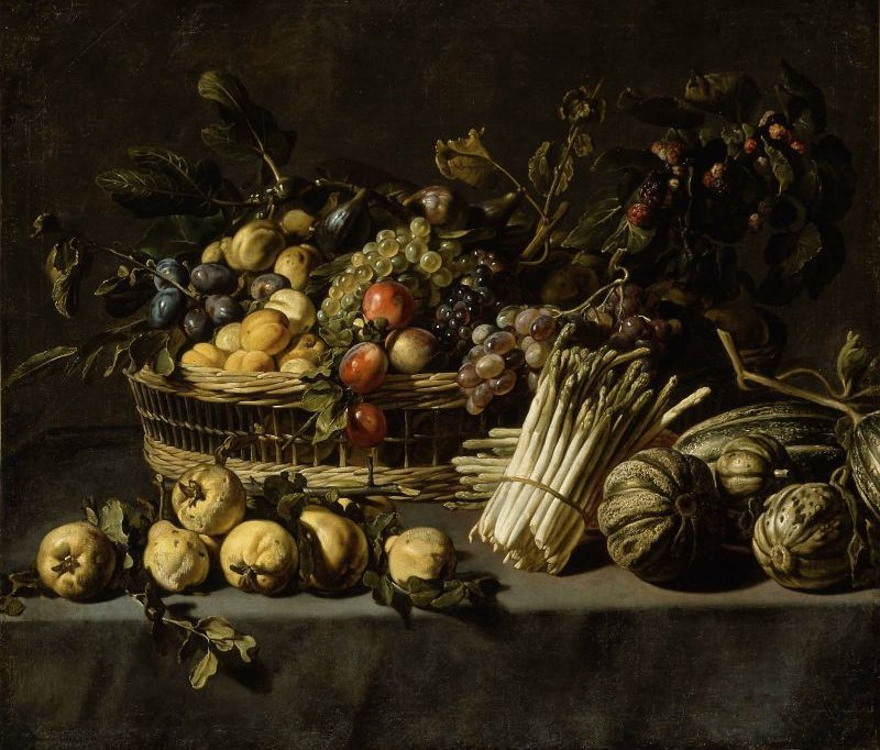 Vegetables and a Basket of Fruit on a Table | Frans Snyders | oil painting